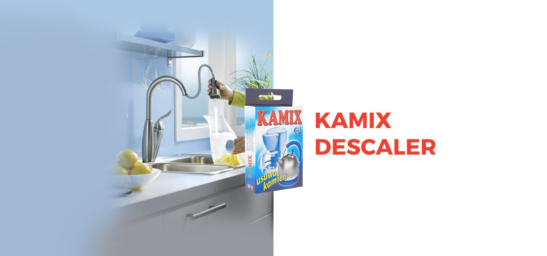 kamix for removing boiler scale